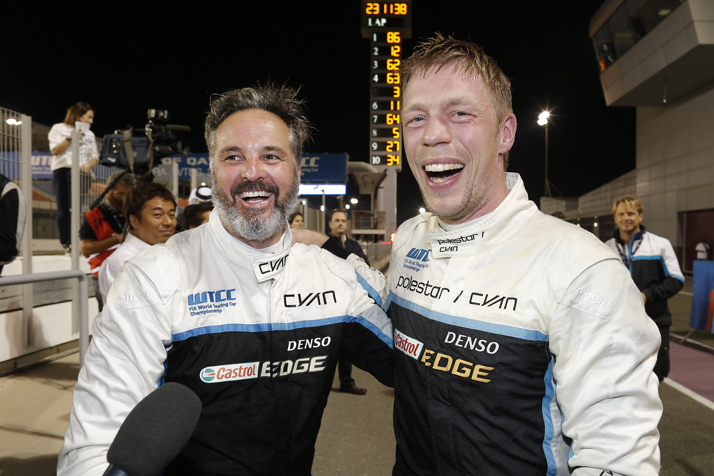 MULLER Yvan (fra), Volvo S60 Polestar team Polestar Cyan Racing, ambiance portrait BJORK Thed, (swe), Volvo S60 Polestar team Polestar Cyan Racing, ambiance portrait during the 2017 FIA WTCC World Touring Car Championship race at Losail  from November 29 to december 01, Qatar - Photo Francois Flamand / DPPI