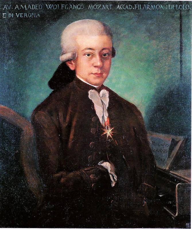 Unknown painter - Portrait of Mozart (1756-1791)