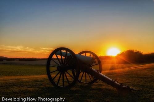 sunset battlefield maryland sky clouds field outdoors grass historical military americancivilwar napoleoncanon canon gun ordnace nikond500 nikon monocacybattlefield