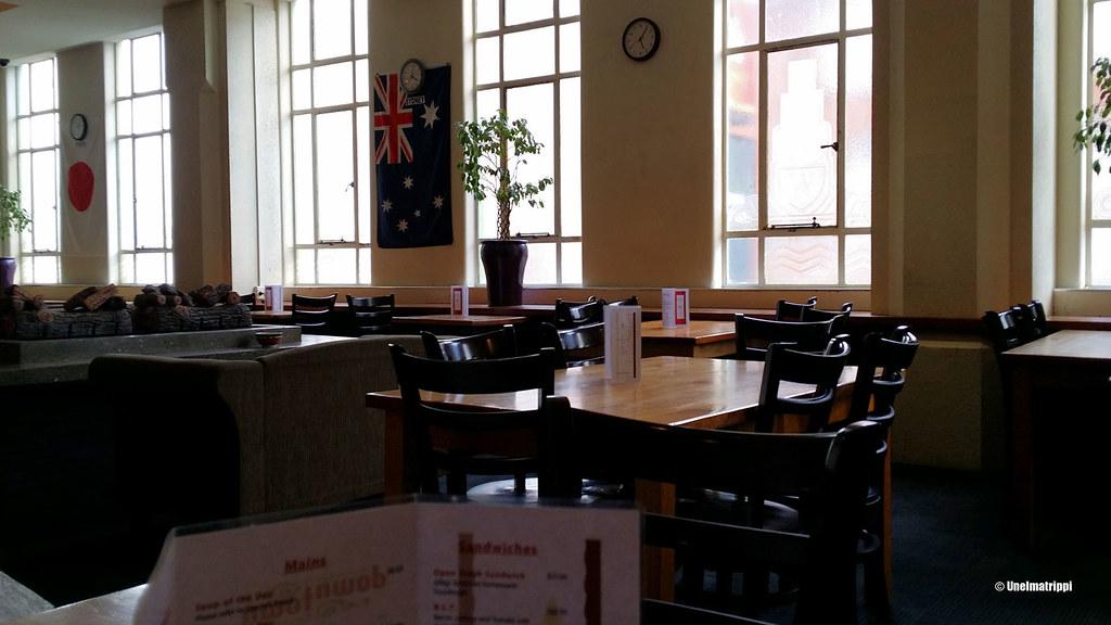 Downtown Backpackers -hostellin ruokasali, Wellington, Uusi-Seelanti