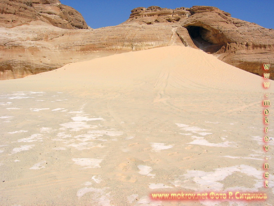 Синайская пустыня с фотокамерой прогулки туристов