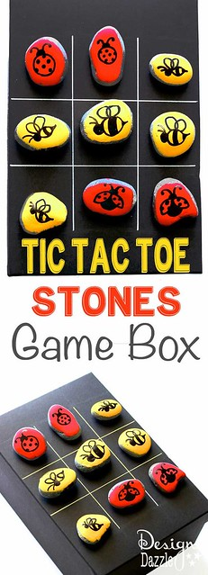 Best Ideas For Diy Crafts : Tic tac toe is a classic game that keeps kids entertained! Paint your own stones...