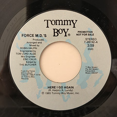 FORCE M.D.'S:HERE I GO AGAIN(LABEL SIDE-A)
