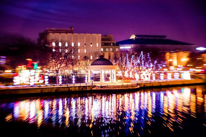 Holiday Lights Reflection