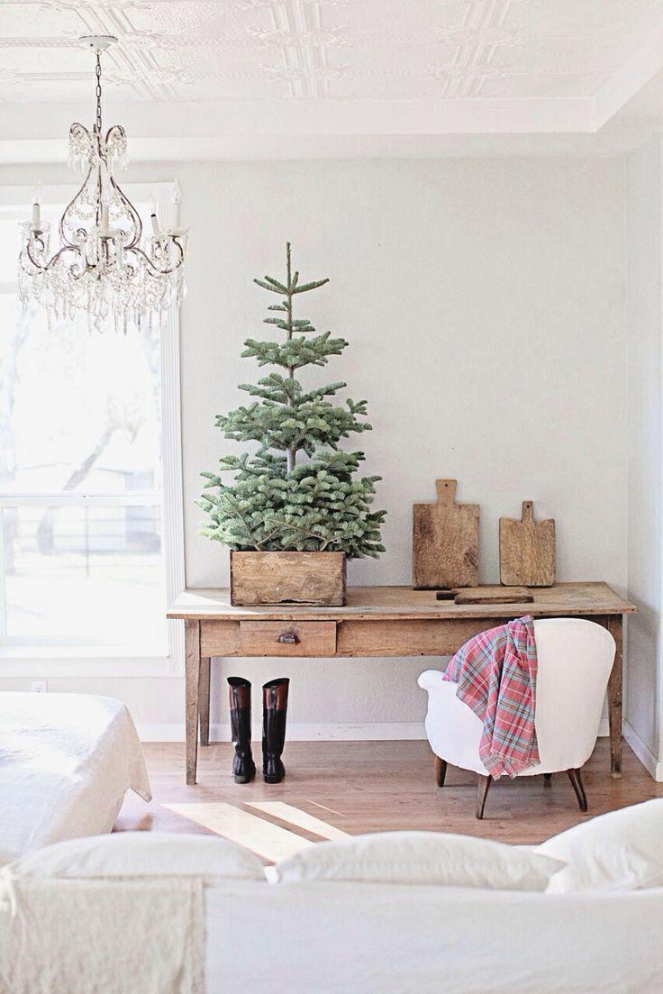 Tabletop Christmas Tree Minimalist Decor Decoration Inspiration Ideas