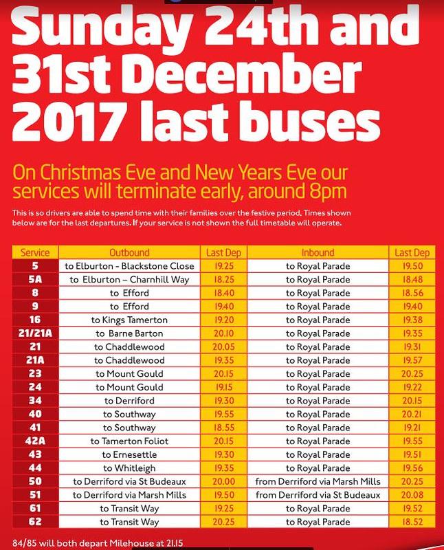 Plymouth Citybus Christmas 2017