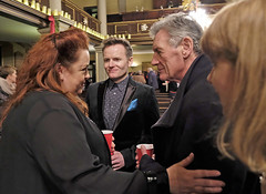 Claire Pendleton from the ENO, Joe Stilgoe, and Michael Palin