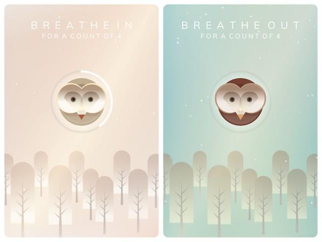 Breathe APP 裡的呼吸提示