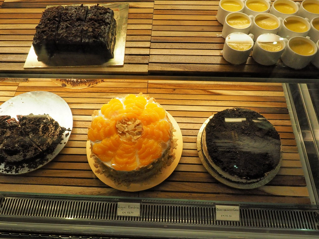 Royal Mandarin cake, Oreo Cheese Cake and other sweet desserts at the cafe