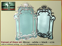 Bliensen - Fairest of them All - Mirror - white & black