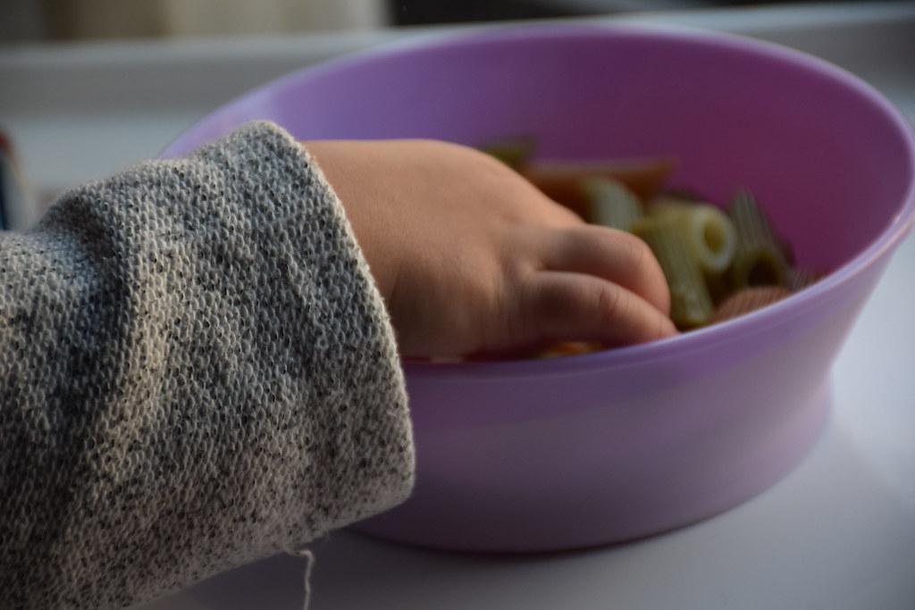 Comiendo en el bowl