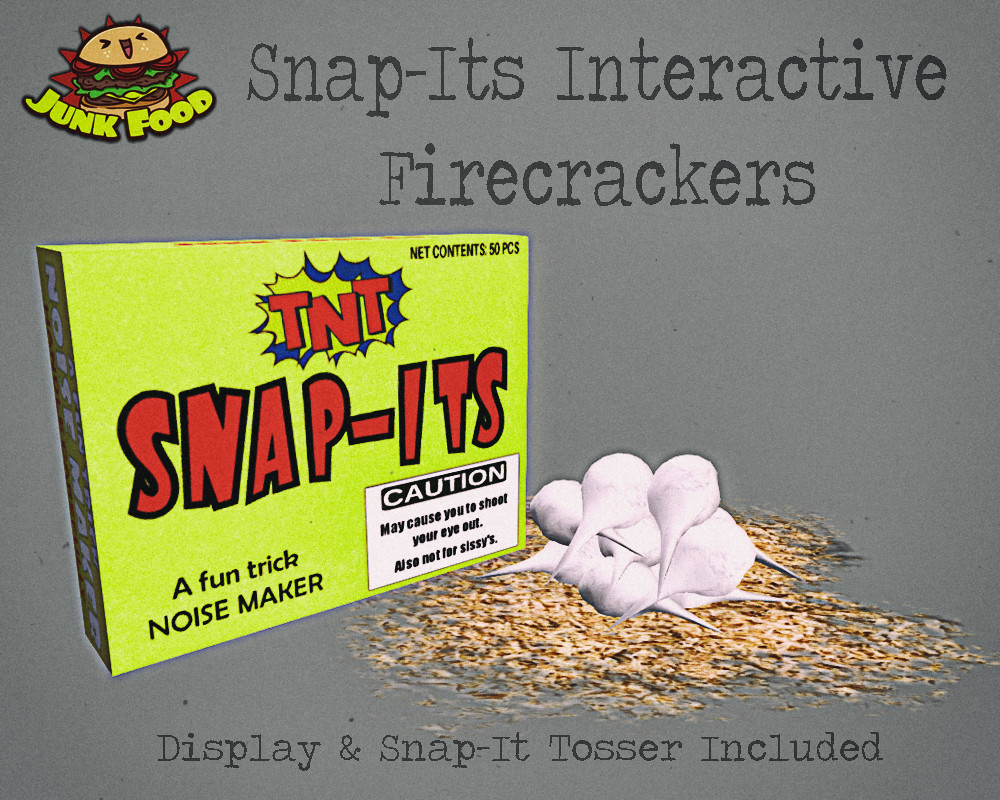 Junk Food - Snap-It's Interactive Firecracker - TeleportHub.com Live!