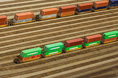 Cargo trains and parallel railroads