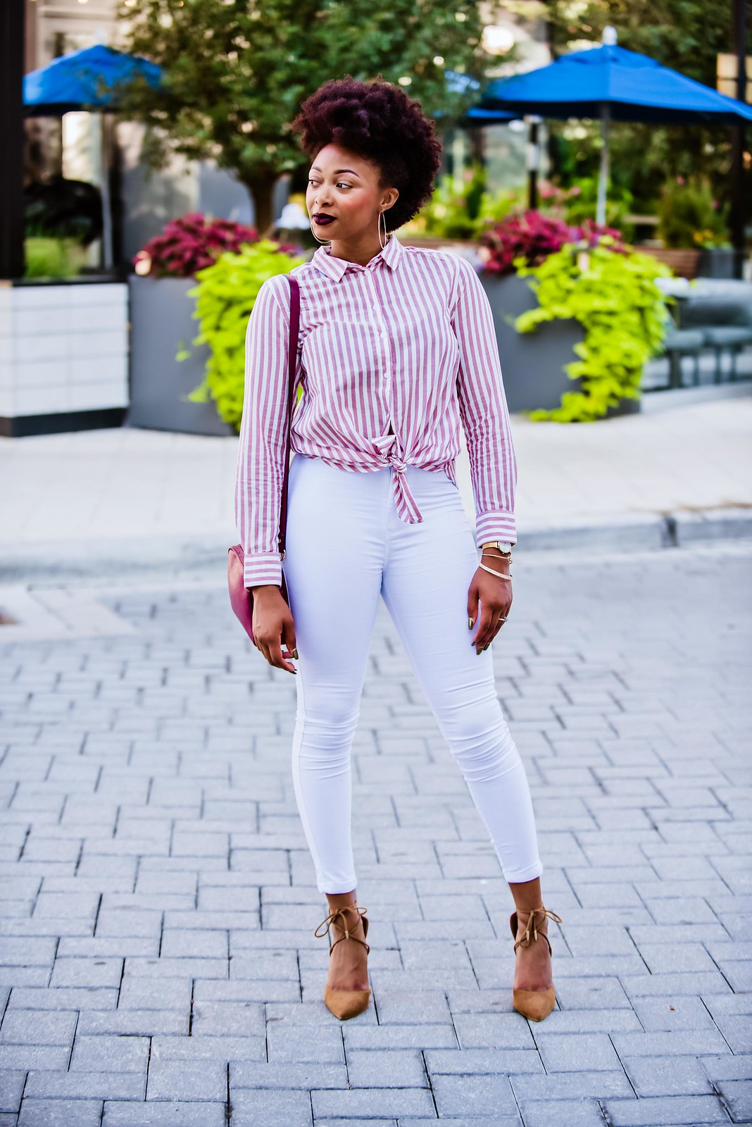 how to style a striped blouse, candace hampton