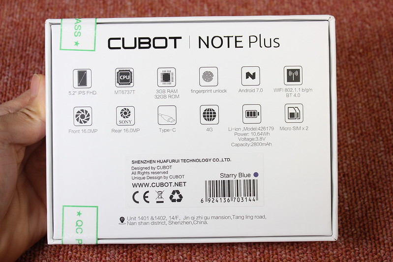 cubot note plus 開封レビュー (12)