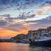 Atardecer en el puerto de Sète
