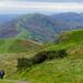 Malvern Hills view: looking along the ridge