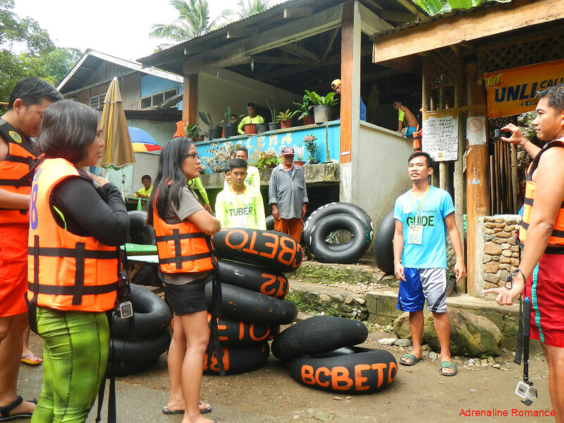 Inner tire tubes made into makeshift one-man inflatable rafts