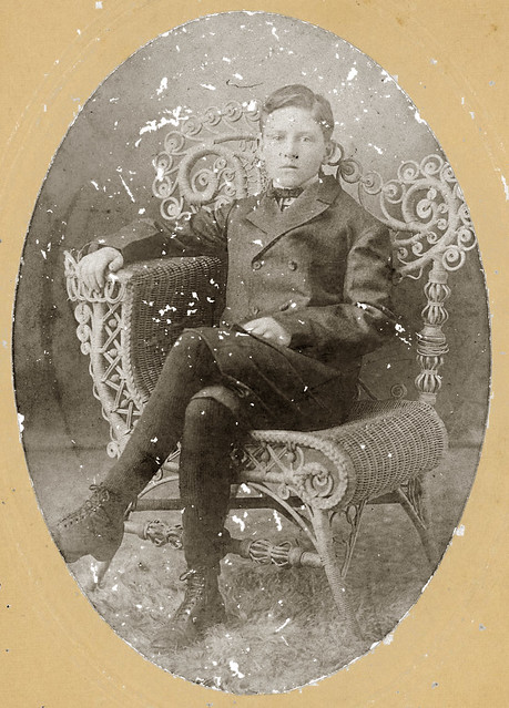 Young man in chair