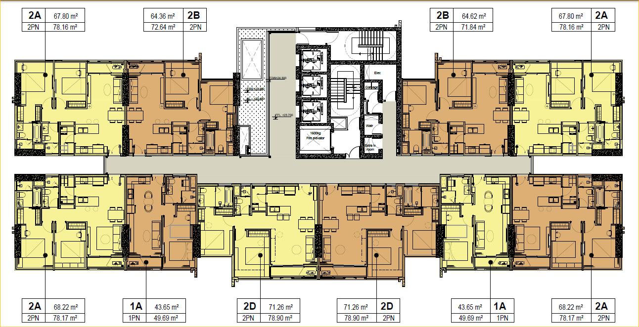 Mặt bằng block B dự án căn hộ Kingdom 101 số 334 Tô Hiến Thành, P14, Q10, TP.HCM.