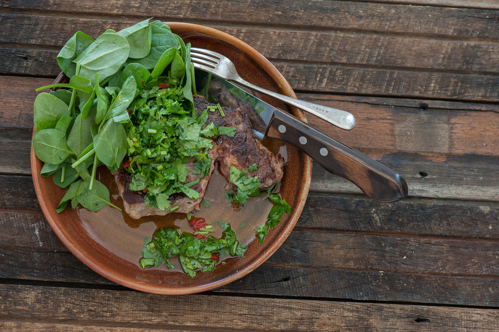 Steak with Herb & Chilli Oil-2