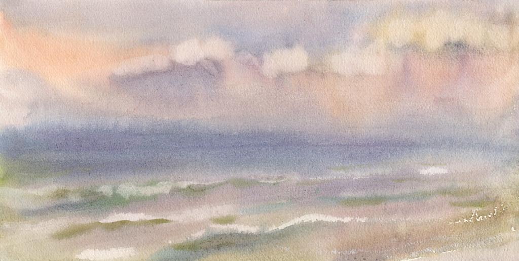 Sea. Watercolor