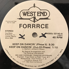 FORRRCE:KEEP ON DANCIN'(LABEL SIDE-A)
