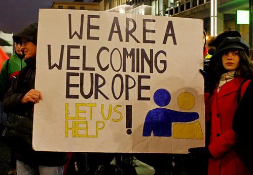 Betoging rond migratietop EU // Liesbeth