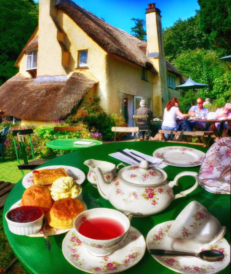 "A ""chocolate box"" Devonshire Cream Tea experience at Selworthy in Devon. Credit Heather Cowper, Flickr"
