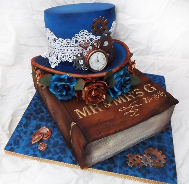 Steampunk Wedding Cake by Uber Angel Cakes
