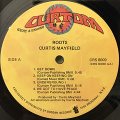 CURTIS MAYFIELD:ROOTS(LABEL SIDE-A)