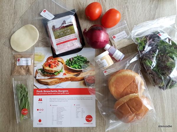 Pork Bruschetta Burgers ingredients