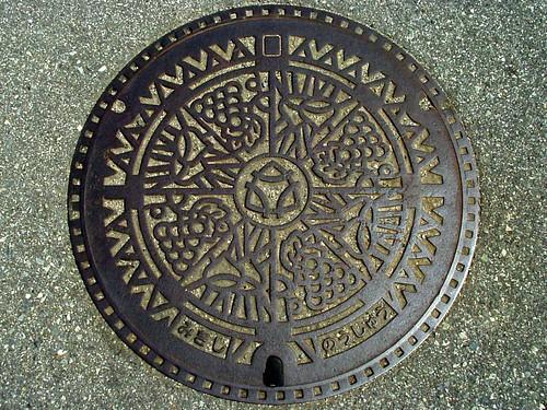 Miki Hyogo, manhole cover 2 (兵庫県三木市のマンホール2)