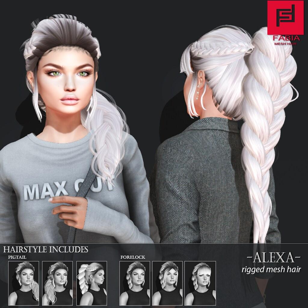 -FABIA- Mesh Hair   <Alexa> - TeleportHub.com Live!
