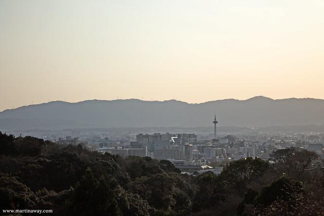 Kiyomizu-dera e Kyoto dall'alto