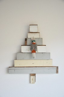 woodwoolstool xmas tree