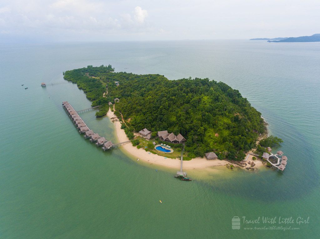 Telunas Private Island, First Look at the Island from the Sky