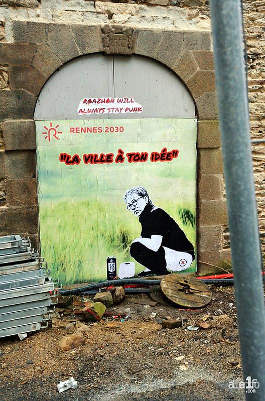 [03 Décembre 2017] – Un jour, une photo : Rennes 2030 n'effacera jamais ses murs rebelles !
