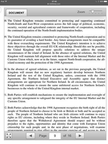 Islands agreement?
