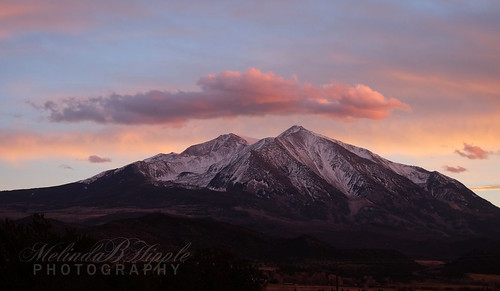 mountain sopris mountsopris carbondale colorado rockies nature outdoor sunset clouds