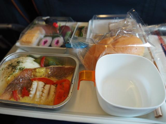 アロエフロートの機内食