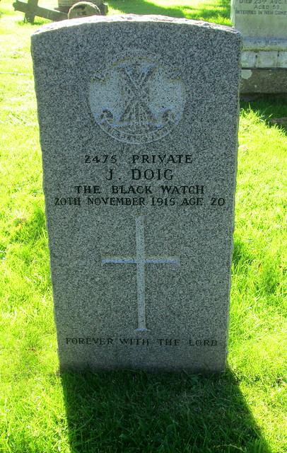 War Grave, Kilrenny