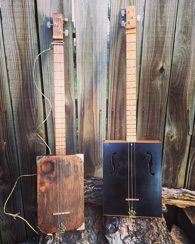 Cigar Box Guitars 001 and 002