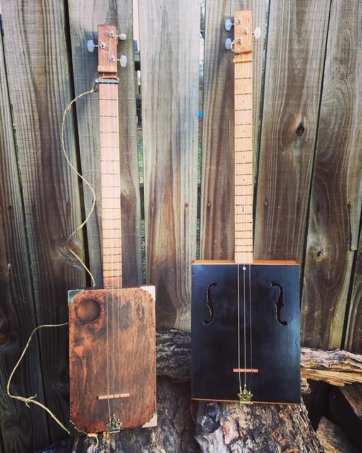 Cigar Box Guitars 001 and 002