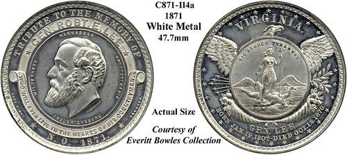 1871 Robert E. Lee medal C871-114a