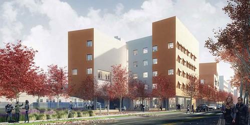 Vassar Street Undergraduate Residence Hall Renderings