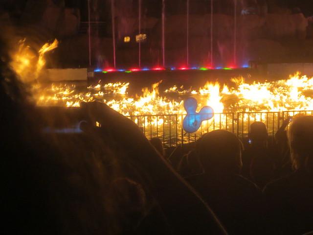Fiery part of Fantasmic
