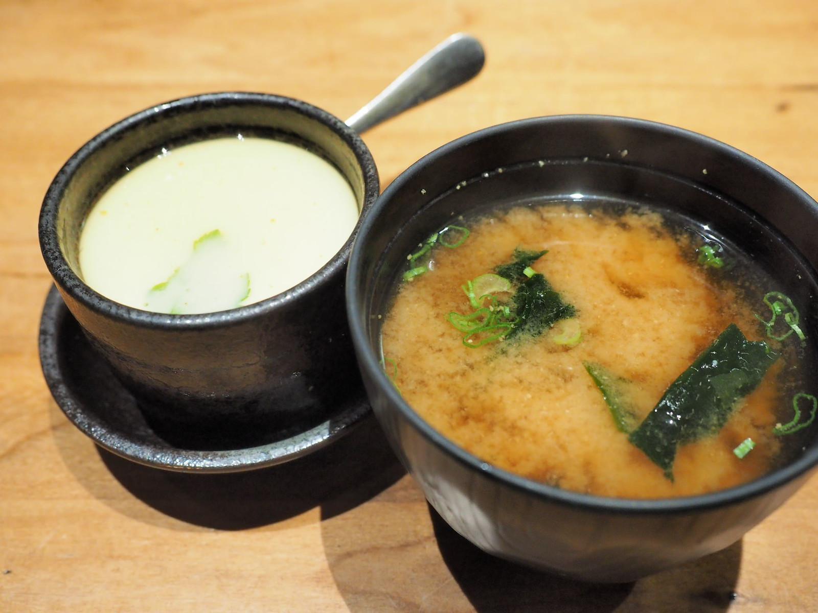 Miso Soup and Chawanmushi for the dinner set at Uroko Japanese Cuisine