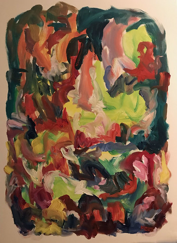 Susan Marx, 2017, Walk in the Garden, 48x36, acrylic on canvas