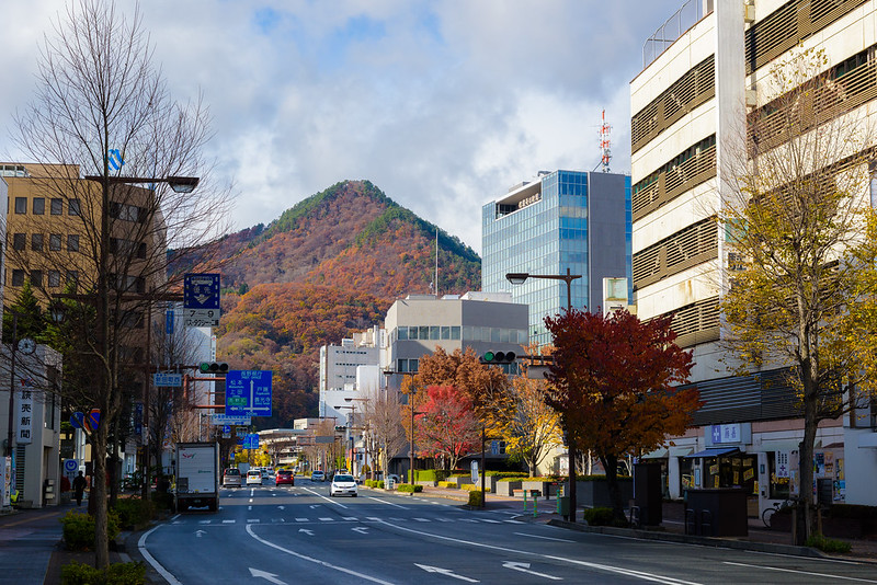 Nagano city in early winter